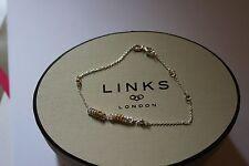 GENUINE LINKS OF LONDON SILVER SWEETIE XS MINI 9CT YGV 20CM  BRACELET 5010.3188