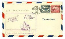 LINDBERGH 1929 PANAM SAN JUAN FLIGHT COVER AAMC FAM 6-15,#56, CRASH #29.15, C5-6