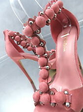 2017 HOHE Pumps Luxus Damen O50 Classic Sandalen Schuhe Pink High Heels Rosa 40
