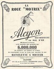 W7411 Biciclette a Motore ALCYON - Pubblicità del 1925 - Old advertising