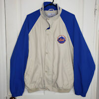 Vintage New York Mets Mirage Light Jacket Zip Up Snap Mens Large MLB Baseball