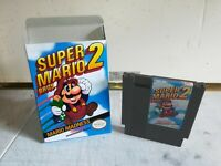 Nintendo NES Super Mario Bros. 2 Game Cartridge, 100% authentic!! + Bonus Box!!!