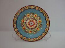 Plato decorativo de ceramica esmaltada pintada a mano 19cm COLOR A ELEGIR