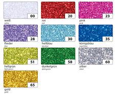 (30,- €/qm) Glitzer-Moosgummi, selbstklebend, 20x29cm, folia® Glitter, Glimmer