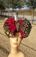 Red african print headwrap