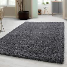 Small – Extra Large Size Thick Modern Plain Non Shed Soft Shaggy Rug Rec & Round 200x290 Cm Grau