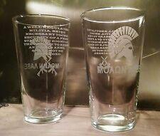 Two Molon Labe/Second Amendment Engraved Pint Glasses