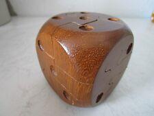 Massives Holz Würfel Puzzle von Arjeu Made in France Cube Würfel (C455)xx