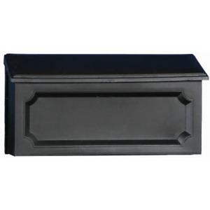 Gibraltar Mailboxes Windsor Medium Capacity Rust-Proof Plastic Black, Wall-Mount