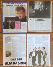 GOLPES BAJOS coleccion de prensa 1980s fotos revista German Coppini