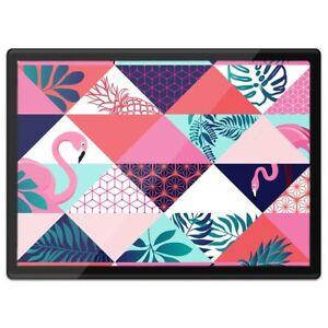 Quickmat Plastic Placemat A3 - Fun Pink Flamingo Tropical Bird  #12886