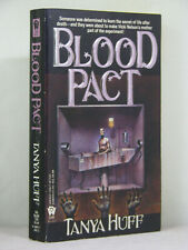 1st,signed by 2(author,artist), Victory Nelson 4:Blood Pact by Tanya Huff (1993)