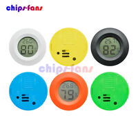 Digital Thermometer Hygrometer Round Cigar Temperature Humidity Meter