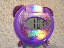 VINTAGE-HANNA MONTANA-SECRET STAR-ALARM CLOCK-M3P SPEAKER-FINE CONDITION-LOOK!