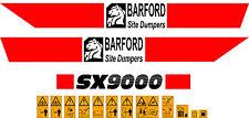 BARFORD SX9000 DUMPER DECALS