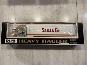 KLINE HEAVY HAULER SANTA FE TRACTOR TRAILER DIE CAST METAL WITH PLASTIC, NIB,NR
