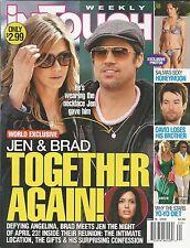 In Touch magazine Angelina Jolie Brad Pitt Jennifer Aniston Salma Hayek Diets