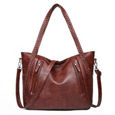 Ladies Soft PU Leather Fashion Crossbody Handbag Large Shoulder Bag Tote
