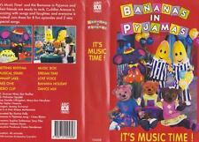 BANANAS IN PYJAMAS ITS MUSIC TIME VHS VIDEO PAL~ A RARE FIND