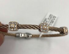 Charriol Alor 18K Gold and SS Cable Diamond Bracelet (MSRP $795)