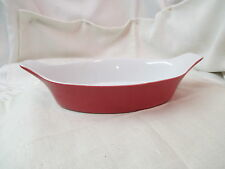Vintage Portugal Cerutil Stoneware orange red Casserole Baking Dish
