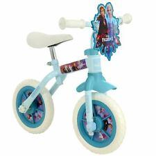 "Disney Frozen 2 Training Bike 10"" 2 in 1 With Stabilisers Girls"