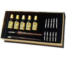 Daveliou Calligraphy Pen Set - 19 Piece Kit - FREE Glass Pen - 12 Nibs & 5 Ink