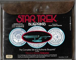 Star Trek TOS Blueprints : Complete Set of 12 Authentic Enterprise Blueprints