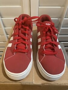 Adidas AW4791 Mwn's Casual Sneakers 6.5 Red & White 3 Stripe