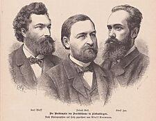 Originaldrucke (1800-1899) aus Europa mit Porträt & Persönlichkeiten und Holzschnitt