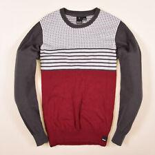 Bench Herren Pullover Sweater Strick Gr.L Retro Sweatshirt Mehrfarbig 78477