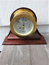 """New listing Hand-Made Solid Mahogany Ship'S Clock Stand for 4 1/2"""" Clocks or Barometers"""