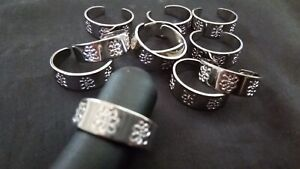 1 x Engraved BUTTERFLY Silver Colour TOE RING -   Adjustable Fashion Jewellery