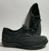SAS Walk Easy Nero Nubuck Leather Walking Sneakers Shoes Women's Size 9.5 M