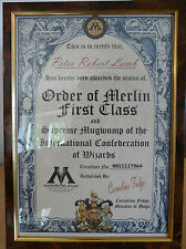 Harry Potter - Personalised Certificate - Order of Merlin First Class