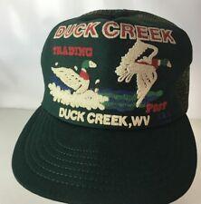 Vintage Truckers Hat Duck Creek Trading Post West Virginia 1985 Snapback USA