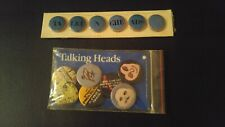 """Sealed TALKING HEADs Vintage 1983 85 3"""" 2x Pin Button Sets Tongues Creature Sire"""