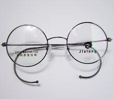 44mm Antique Retro Vintage Round Dark Grey Wire Rim Eyeglass Frame Spectacles Rx