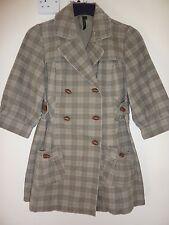 Topshop size 8 mid length coat. Beige brown stripes
