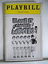 BLAME IT ON THE MOVIES Playbill BILL HUTTON / BARBARA SHARMA NYC Flop 1989