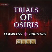Flawless | Trials Of Osiris + Bounties | Xbox Ps4 Pc.  Ready In 4 Hours