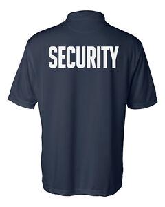 Security Sport Shirts - Premium Performance Fabric - Uniform - Guard - Polo