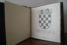 CROAZIA HRVATSKA 1991-96 COLLEZIONE COMPLETA SU FOGLI MARINI + CARTELLA