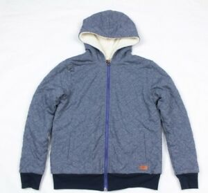 7 For All Mankind Kid's Blue Hoodie Quilted Style Size M