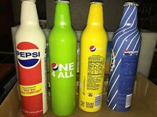 4 bouteilles collector pepsi américaines