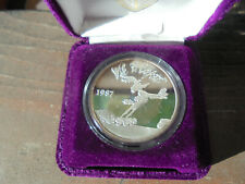 LOONEY TUNES WILE COYOTE 1 OUNCE .999 FS 1987 HIGHLAND MINT