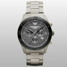 BRAND NEW EMPORIO ARMANI GREY DIAL TITANIUM CHRONOGRAPH MEN WATCH AR9502