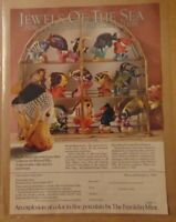 Vintage 1980's FRANKLIN MINT Tropical Fish JEWELS OF THE SEA Print Advertising