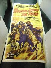Charles Starrett Blazing Across The Pecos Original 3-Sheet Movie Poster #N1312
