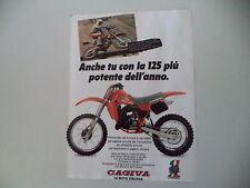advertising Pubblicità 1984 CAGIVA WMX 125 e CORRADO MADDII